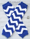 Royal Blue Chevron Leg Warmers