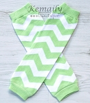 Green Chevron Leg Warmers
