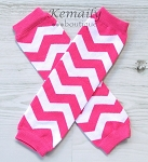 Hot Pink Chevron Girl Leg Warmers