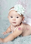 Mint Flower Lace Baby Headband