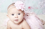 Pink White Flower Baby Headband