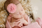 Pink Organic Bloom Flower Skinny Baby Headband