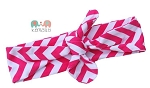 Hot Pink Chevron Top knot Headband