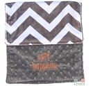 Personalized Grey Chevron Spit Happens Burp Cloth Baby Gift