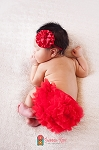Red Chiffon Ruffle Diaper Cover