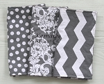 3 Piece Grey Chevron Minky Burp Cloth Set, Gender Neutral, Drool Bib, Modern Burp Cloth, Drooling Bib, Baby Gift, New Mom Essentials, Boy Burp Cloths