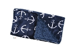 Anchors Double Minky Burp Cloth and Natuitcal Drool Bib