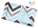 Blue Grey Multi Chevron Double Minky Burp Cloth - Burp Rag - Baby Shower - Feeding - Baby Gift - Nursing - New Mom - Essentials