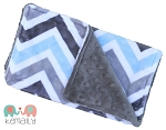 Burp Cloth Blue & Grey Chevron Double Minky, Burp Rag, Baby Shower, Newborn Gift, New Mom, Feeding, Nursing, New Mom, Essentials, Baby Gift