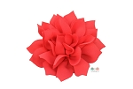 Coral DIY Satin Fabric flower Layered chiffon Flowers