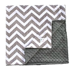 Charcoal Grey & White Double Minky Baby Blanket, Chevron Blanket, Stroller Blanket, Baby Shower, Custom Blanket, Baby Gift, Gender Neutral