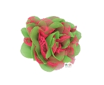 Hot Pink and Lime Chiffon Shabby Chic Frayed Chiffon Flower