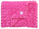 Hot Pink Rosette Double Minky Baby Blanket