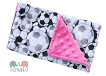 Hot Pink Soccer Double Minky Burp Cloth - Sports - Girls - Baby Shower Gift - Nursing - New Mom Essentials, Burp Rag