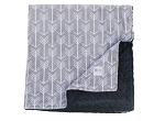 Minky Cuddle Prints Silver Arrow Baby Blanket