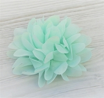 Mint Multi Layers Chiffon flower