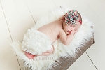Noelle Holiday Baby Headband and Ivory Baby Bloomer Set
