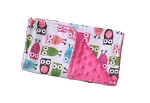 Owl Double Minky Burp Cloth