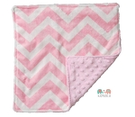 Pink Chevron Double Minky Lovey