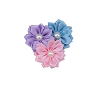 Pink, Lavender, Light Blue Pinwheel Flower Cluster