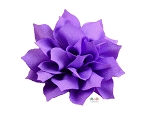 Purple DIY Satin Fabric flower Layered chiffon Flowers