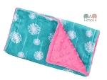 Teal Dandelion Double Minky Burp Cloth, Baby Shower Gift, Theme, Feeding, Nursing, New Mom Gift