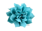 Turquoise DIY Satin Fabric flower Layered chiffon Flowers