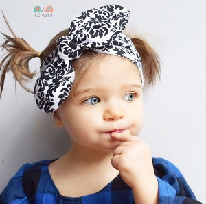 Damask Top knot Headband