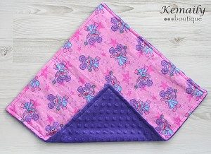 Made with Abby Cadabby Fabric Minky Lovey Baby Blanket