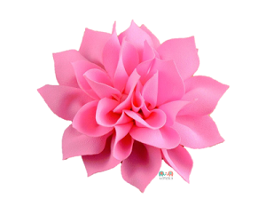 Pink DIY Satin Fabric flower Layered chiffon Flowers