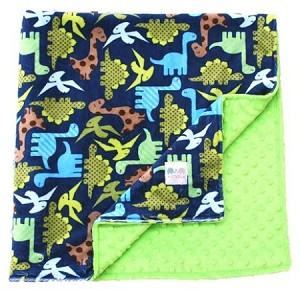 Dinosaurs Double Minky Baby Blanket