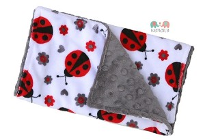 Ladybug Double Baby Minky Burp Cloth