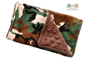 Camo Double Baby Minky Burp Cloth