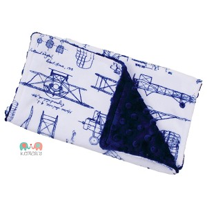 Airplane Minky Burp Cloth