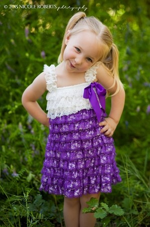 Purple and White Lace Baby Dress