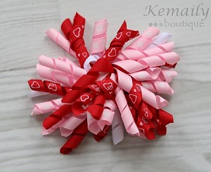 Pink Red Korker Hairbow