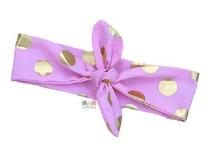 Pink and Gold Top Knot Baby Girl Headband