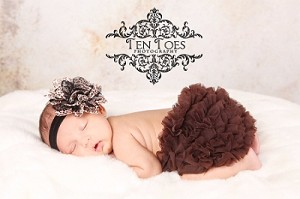 Leopard Baby Headband and Matching Chiffon Ruffle Bloomers